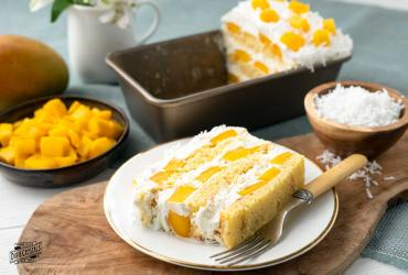 Mango Coconut Icebox Cake