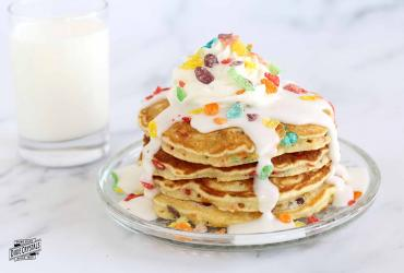 Milk and Cereal Pancakes Dixie