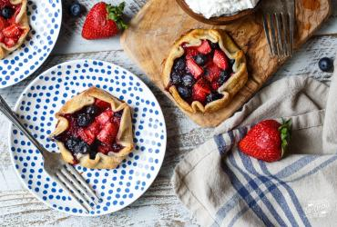 Mini Berry Galettes with Lemon Whipped Cream