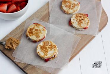 Mini Peanut Butter & Cream Cheese Quesadillas with Fresh Strawberries