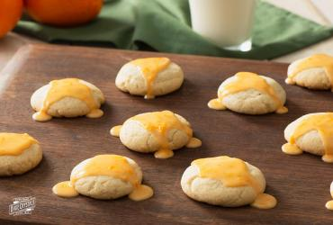 Orange Cookies with Orange Glaze