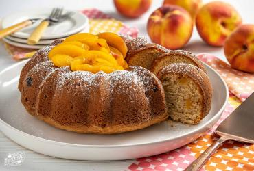 Peach Cobbler Cream Cheese Pound Cake Sugar Dixie