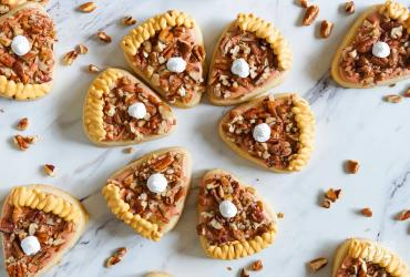 Piece of Pecan Pie Decorated Cookies