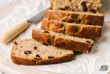 Pineapple Cranberry Banana Bread