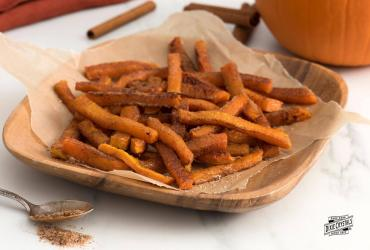 Pumpkin Fries with Cinnamon Sugar