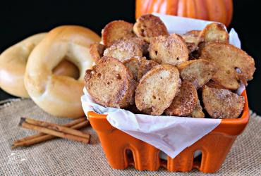 Pumpkin Spice Bagel Chips