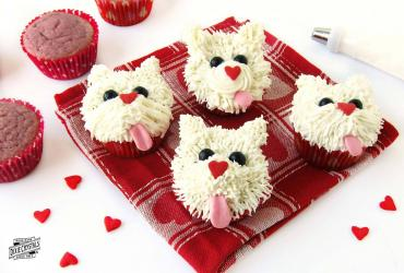 Puppy Love Raspberry Cupcakes