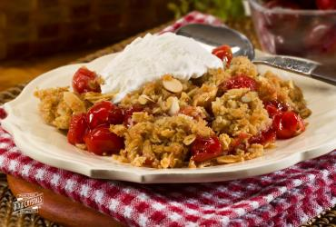 Slow Cooker Cherry Crisp