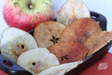 Sugared Apple and Pear Chips