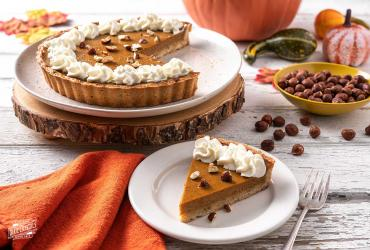 Toasted Hazelnut Crust Pumpkin Tart