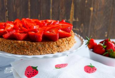 Walnut and Strawberry Torte