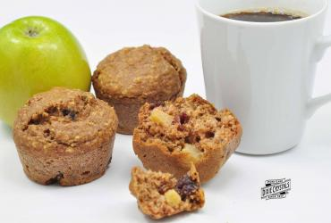 Steviacane Whole Wheat and Oat Apple Cranberry Muffins