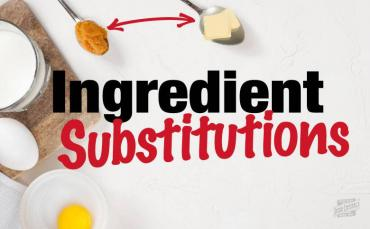 10 Ingredient Substitutions for Baking
