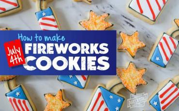 how to make fourth of July fireworks cookies