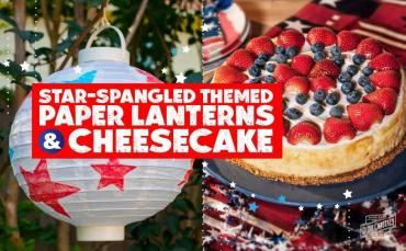 star-spangled fourth of July cake and craft
