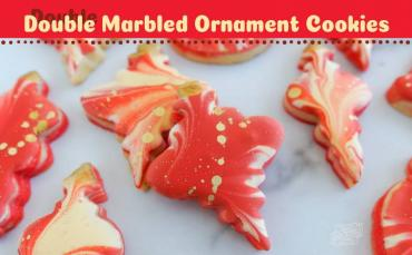 How to Make Doubled Marbled Ornament Cookies for Christmas