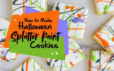 How to Make Halloween splatter Paint Cookies