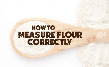 Measure Flour Correctly with The Spoon & Sweep Method